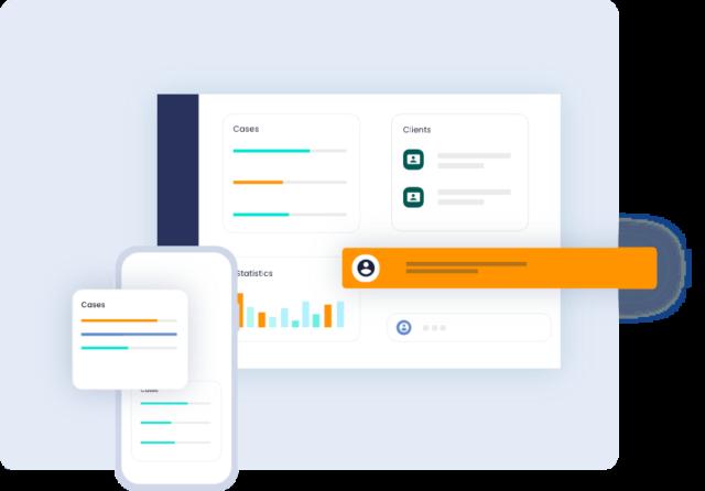 The Link App dashboard on desktop & mobile