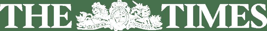 the times logo white